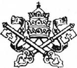 Описание: Папский герб (тиара и ключи от Царства Небесного)