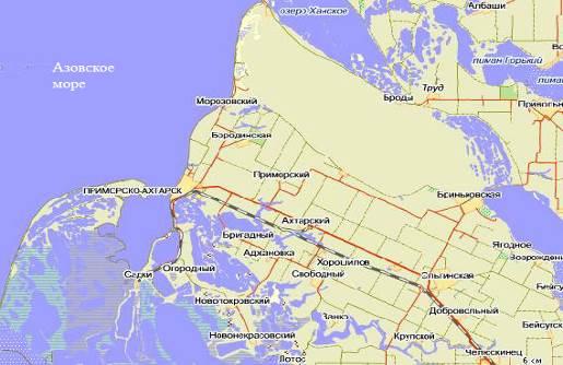 этой статье приморск краснодарский край на карте россии фото спутниковую карту