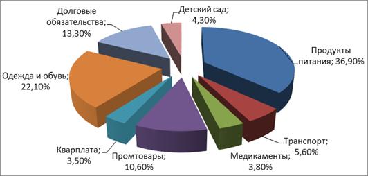 Структура семейного бюджета - Семейный бюджет, источники его формирования