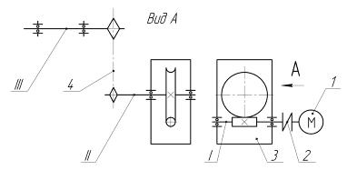 Кинематическую схему привода ленточного конвейера ремкомплект петли транспортер т4