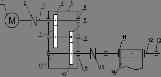 Кинематическая схема привода ленточного транспортера двигатели транспортер т4 2 5
