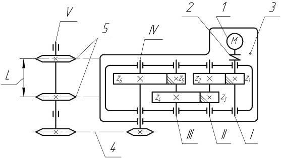 Цепной конвейер кинематическая схема чертеж ленточного конвейера в компасе скачать